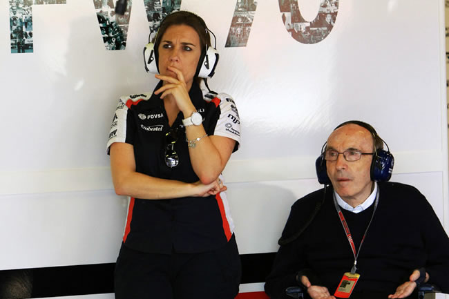 Claire Williams y Frank Williams - Williams F1