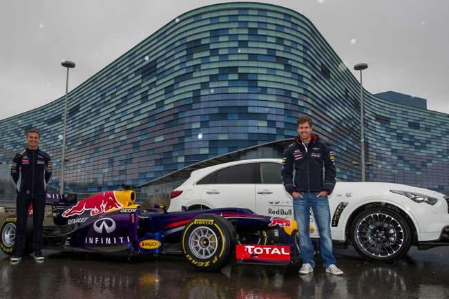 Sebastian Vettel y David Coulthard - Circuito Sochi - Rusia
