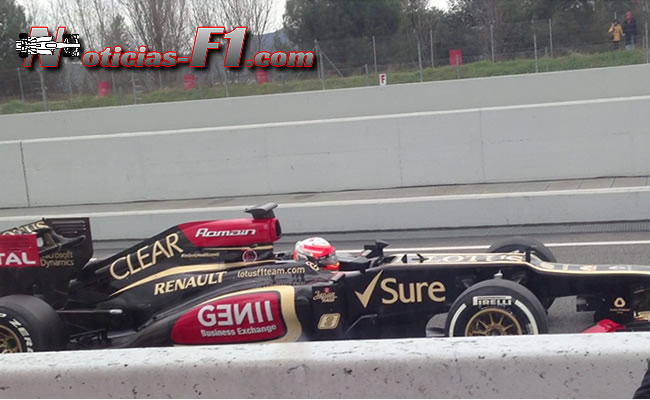Romain Grosjean - Test Barcelona 2013. www.noticias-f1.com