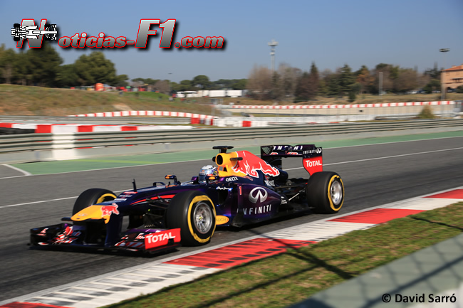 Sebastian Vettel - Test Barcelona 2013 - David Sarró - www.noticias-f1.com