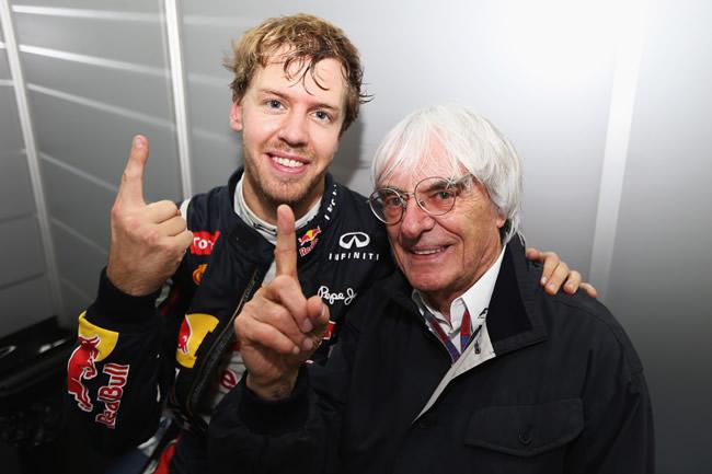 Sebastian Vettel - Bernie Ecclestone