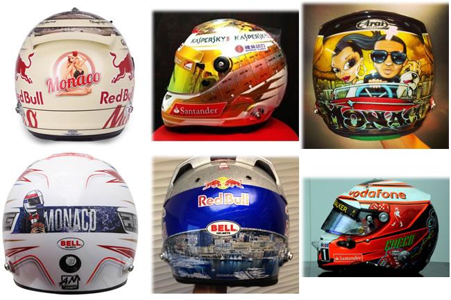 Cascos Especiales Gran Premio de Mónaco 2013