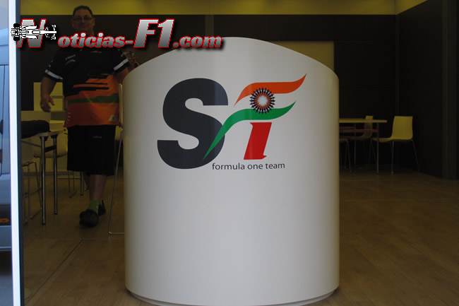 Force India Recibidor Motorhome - www.noticias-f1.com