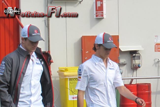 Nico Hulkenberg y Esteban Gutiérrez - Sauber - www.noticias-f1.com