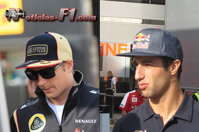 KImi Raikkonen - Daniel Ricciardo - www.noticias-f1.com