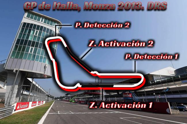 Gran Premio de Italia - Monza 2013 -  Zonas DRS