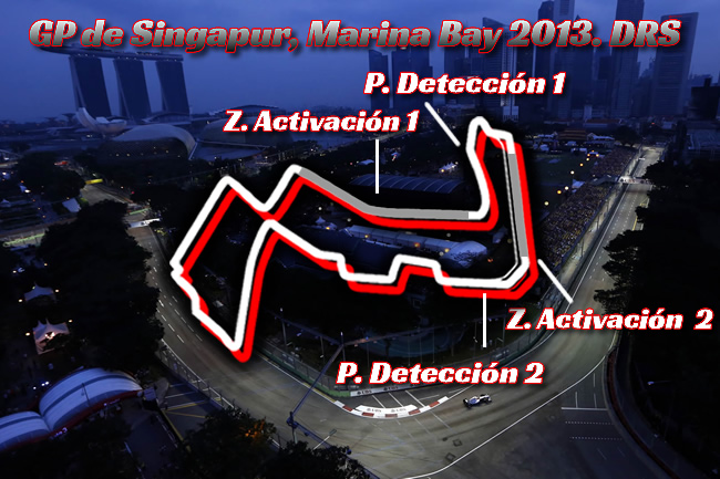Gran Premio Singapur 2013. Marina Bay - DRS
