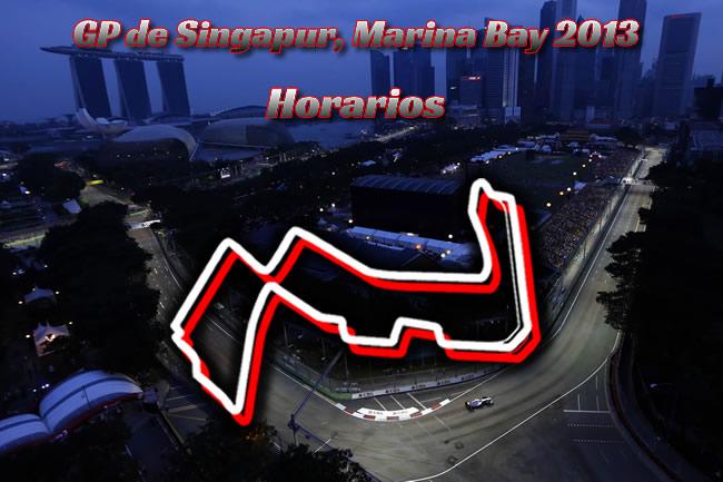 Gran Premio Singapur 2013. Marina Bay - Horarios