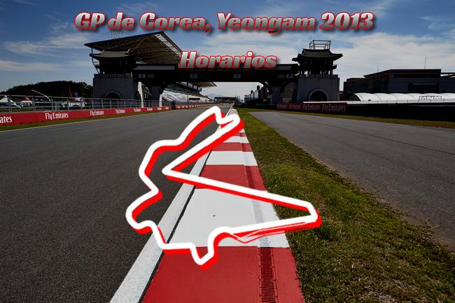 Circuito - Gran Premio de Corea - Horarios
