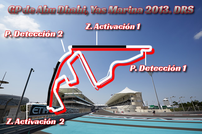 Gran Premio de Abu Dhabi - Yas Marina - DRS - 2013