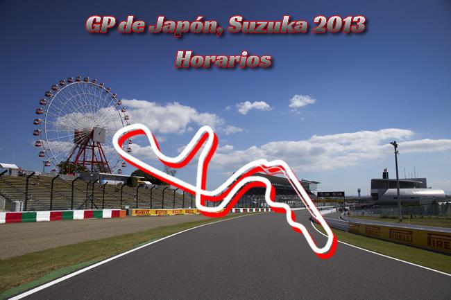 Gran Premio de Japón - Suzuka 2013 - Horarios