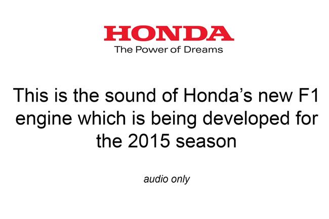Honda - Sonido Motor 2015 - F1