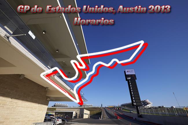 Horarios Gran Premio de Estados Unidos - Austin 2013