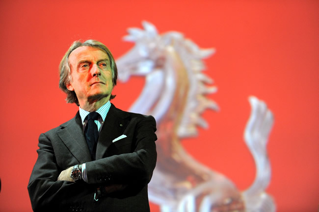 Luca di Montezemolo presidente de Ferrari