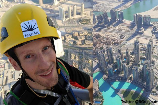 Romain Grosjean - Burj Khalifa
