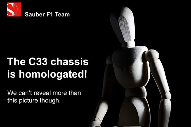Sauber - Mensaje Twitter - Chasis C33 - Monoplaza Temporada 2014