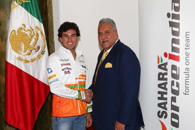 Sergio Pérez - Viajy Mallya - Force India - Temporada 2014