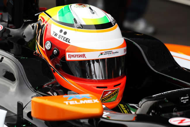 Sergio Pérez - Force India - Segundo día - Test Jerez