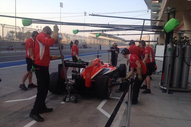 Jules Bianchi - Marussia - Test Bahréin - 2014 - día 1