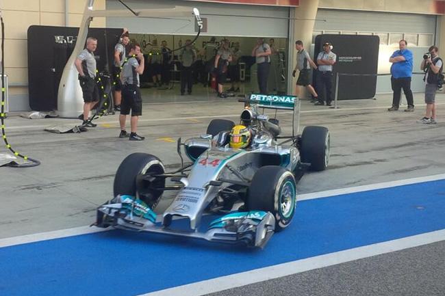 Lewis Hamilton - Mercedes AMG F1 - Test Bahréin - 2014