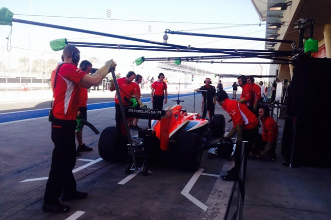 Max Chilton - Marussia - Test Bahréin - día 3