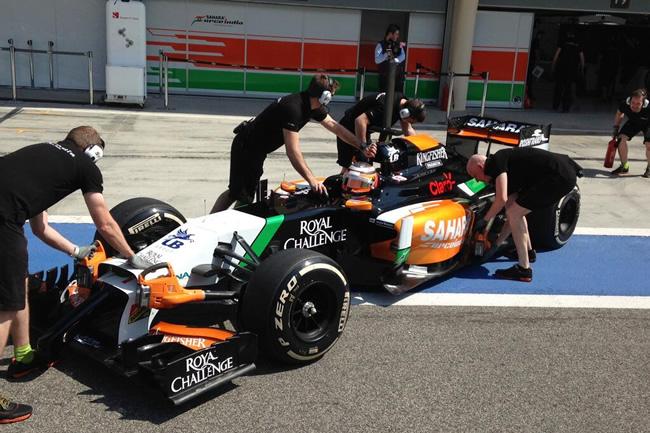 Nico Hulkenberg - Sahara Force India - Test - Bahréin - día 1