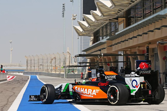 Nico Hulkenberg - Test - Bahréin - día 2 - Force India - 2014