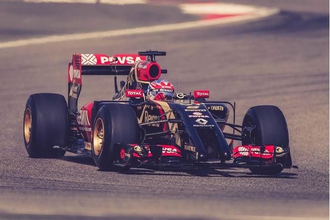 Romain Grosjean - Lotus - Test Bahréin - 2014 - día 2