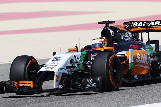 Sergio Pérez - Test Bahréin - 2014 - Force India