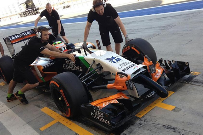 Sergio Pérez - Checo - Sahara Force India - 2014 - Test Bahréin - día 4