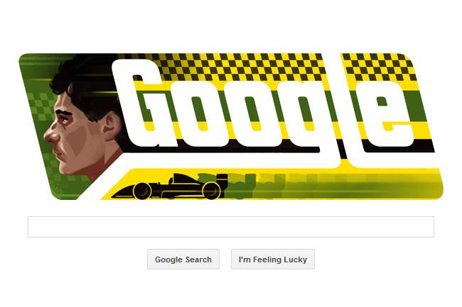 Doodle - Ayrton Senna - F1 - Google