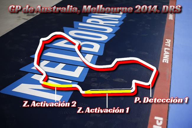 Gran Premio Australia - 2014  - Zonas DRS - F1
