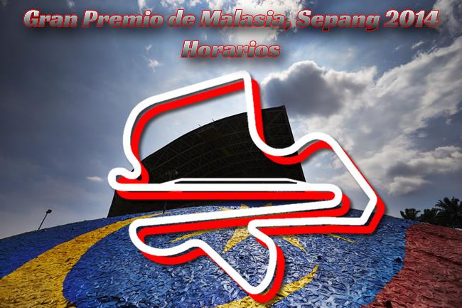 Gran Premio de Malasia - Sepang 2014 - Horarios