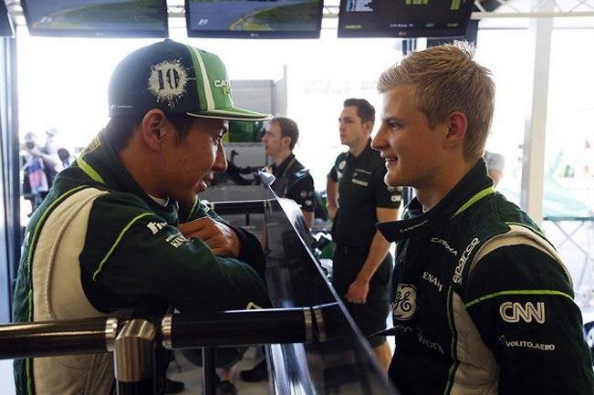 Marcus Ericsson y Kamui Kobayashi - Caterham - Gran Premio de Australia 2014 - Viernes