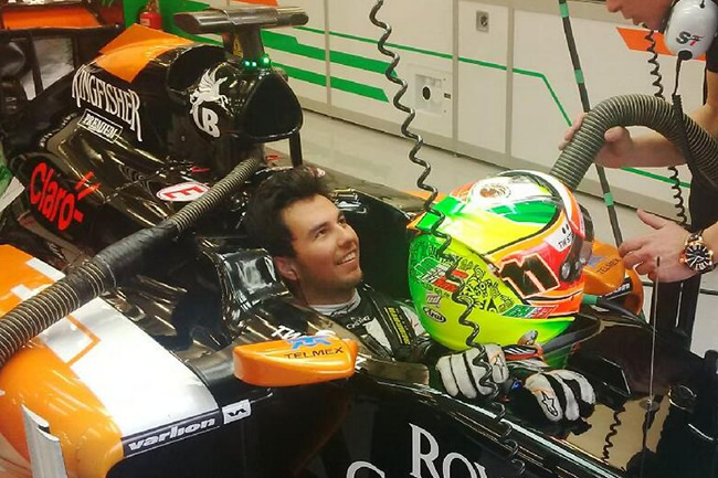 Sergio Pérez - Force India - Test 2 Bahréin - día 2 (6) - 2014