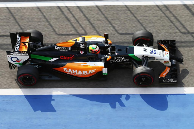 Sergio Pérez - Test Bahréin - Force India - día 2 (2) - 2014