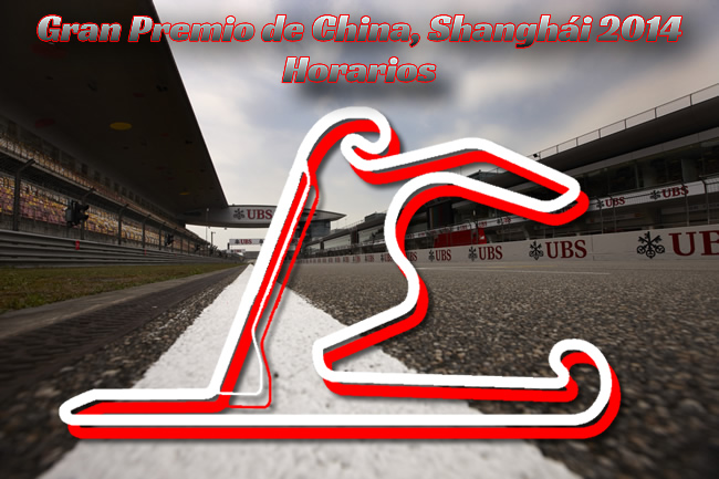 Gran Premio de China - F1 2014 - Horarios