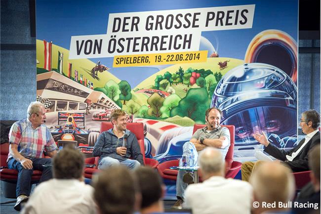 Conferencia Red Bull Racing - Red Bull Ring - Evento - Sebastian Vettel - Gerhard Berger - Ferrari - Gran Premio de Austria