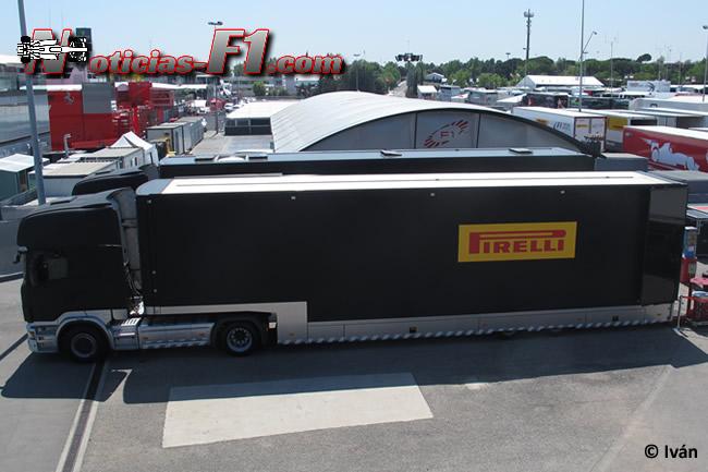 Camión Pirelli - Paddock - F1 2014