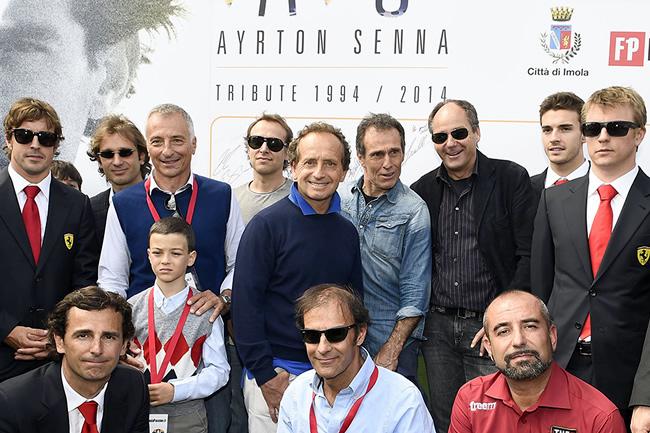 Tributo - Ayrton Senna - Ferrari - Fernando Alonso - Kimi Raikkonen - Pedro de la Rosa - Jules Bianchi