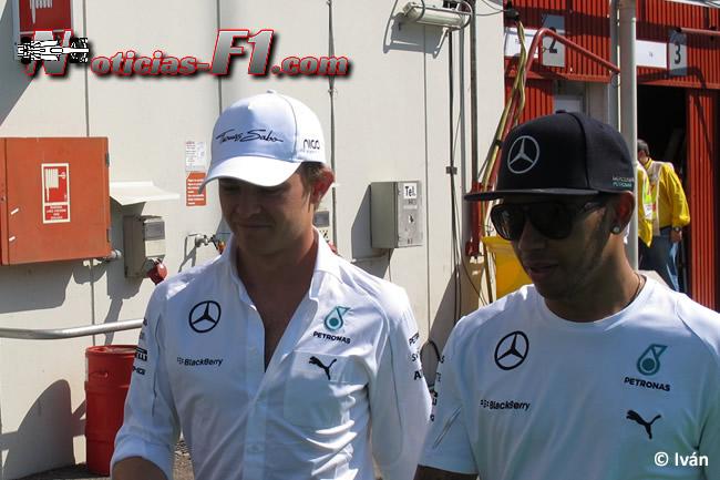 Nico Rosberg - Lewis Hamilton - Mercedes - F1 2014 - www.noticias-f1.com