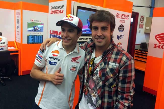 Fernando Alonso y Marc Márquez  - Gran Premio de Italia 2014 - MotoGP