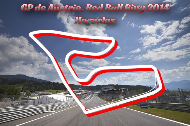 Gran Premio de Austria  - F1 2014 - Horarios