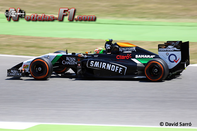 Sergio Pérez - Force India - F1 2014 - David Sarró - www.noticias-f1.com