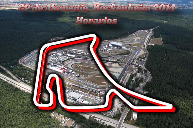 Horarios Gran Premio de Alemania - F1 2014 - Hockenheim