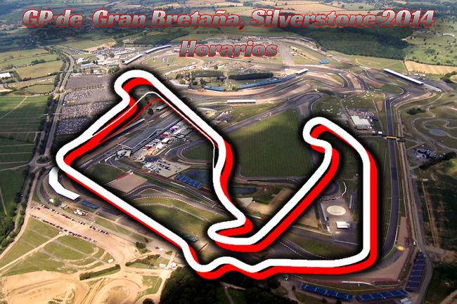Gran Premio de Gran Bretaña - Silverstone 2014 - Horarios