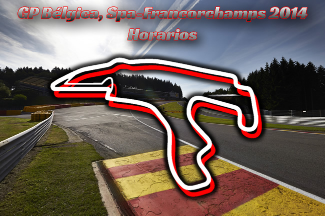 Gran Premio de Bélgica - Horarios