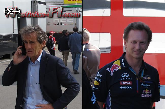 Alain Prost - Christian Horner - www.noticias-f1.com