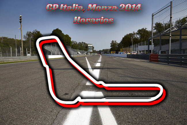Gran Premio de Italia - Monza 2014 Horarios