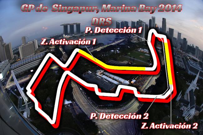 Gran Premio de Singapur, Marina Bay 2014 - DRS